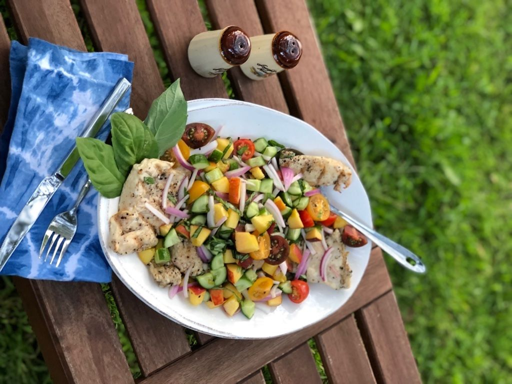 Summer on a Plate: Crave & Cook's Grilled Chicken and Peach Salad