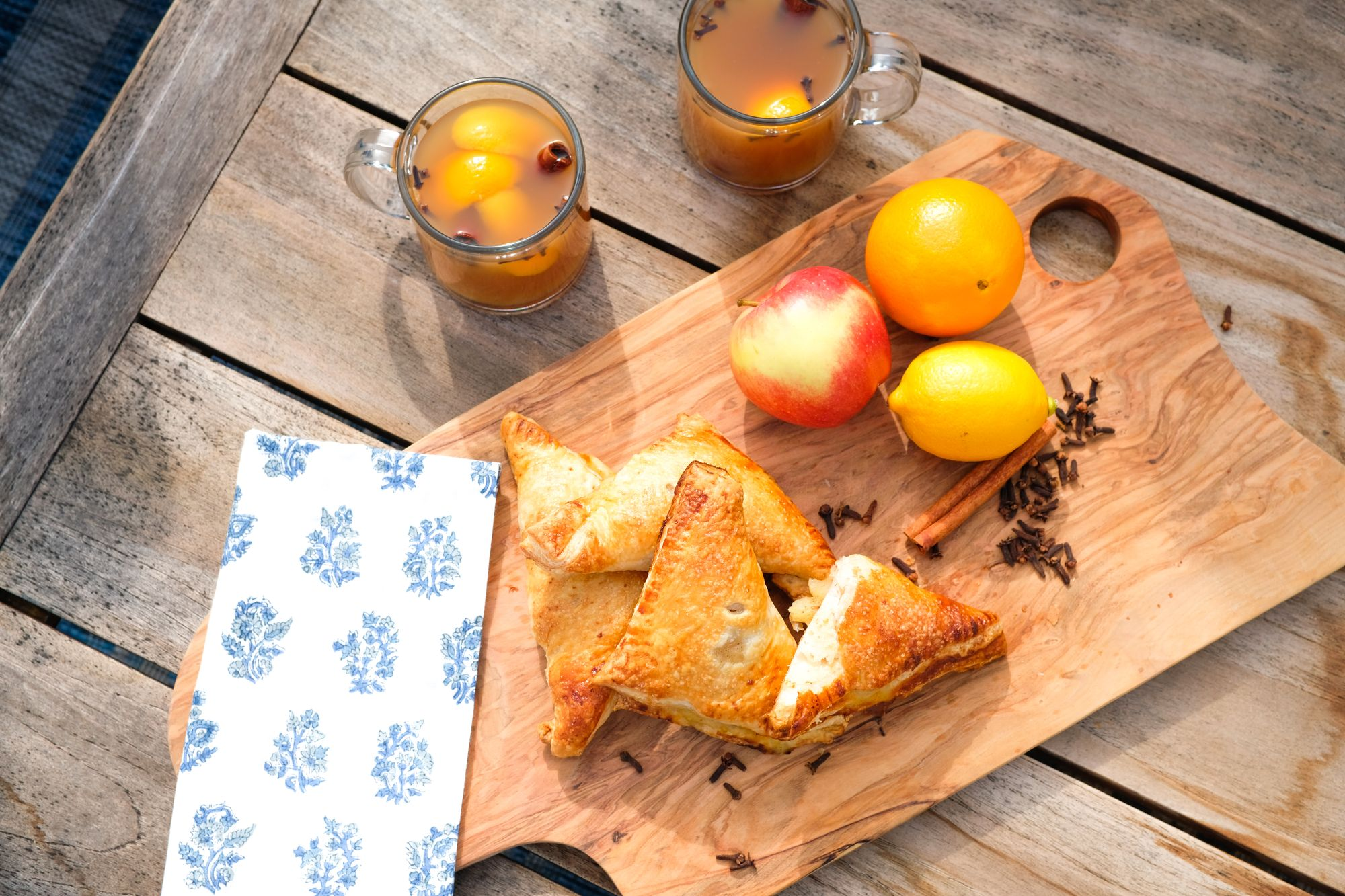 Apple Turnovers and Spiced Cider (Best Enjoyed Outdoors!)