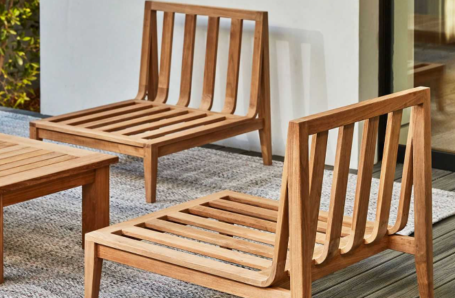 Teak outdoor furniture with out cushions