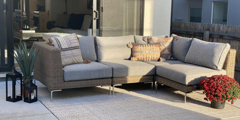 Grey patio furniture