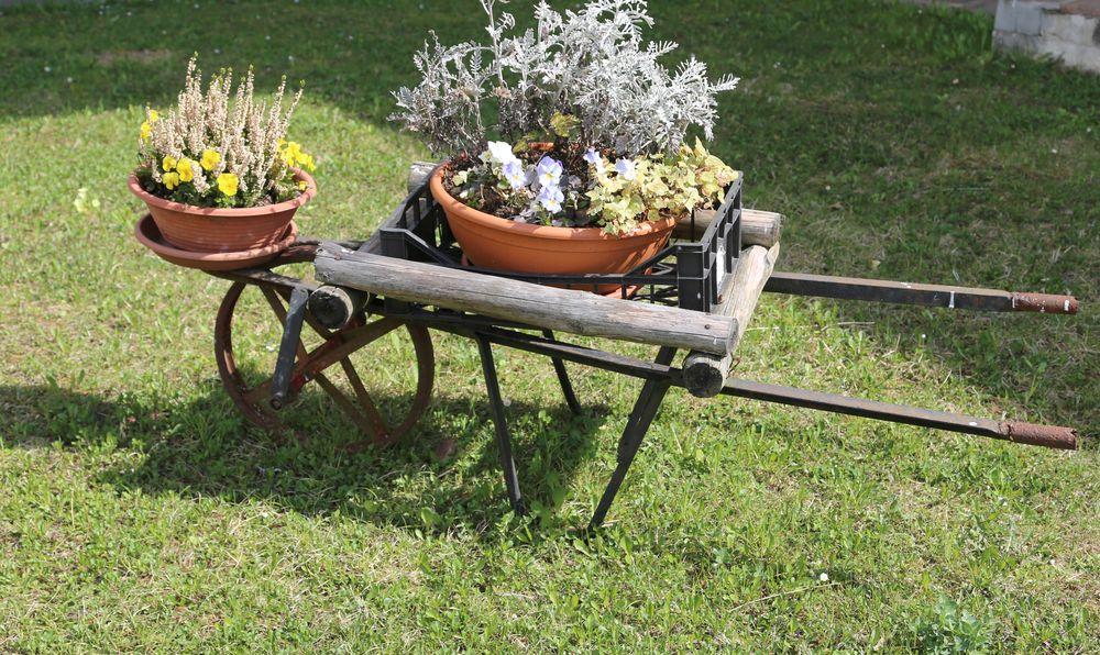 Upcycling planters for backyard decor