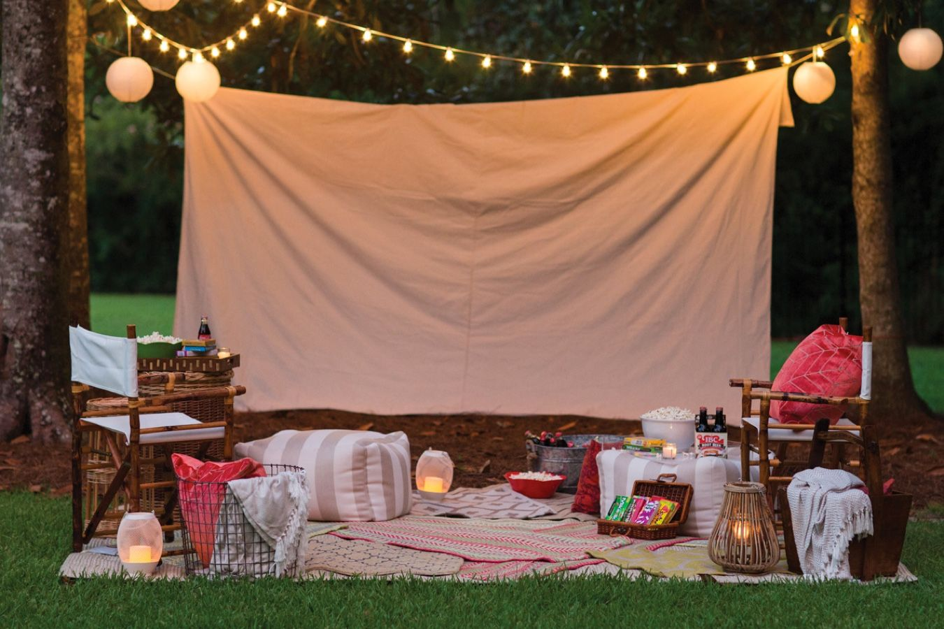 Everything You Need To Host The Best Backyard Movie Night