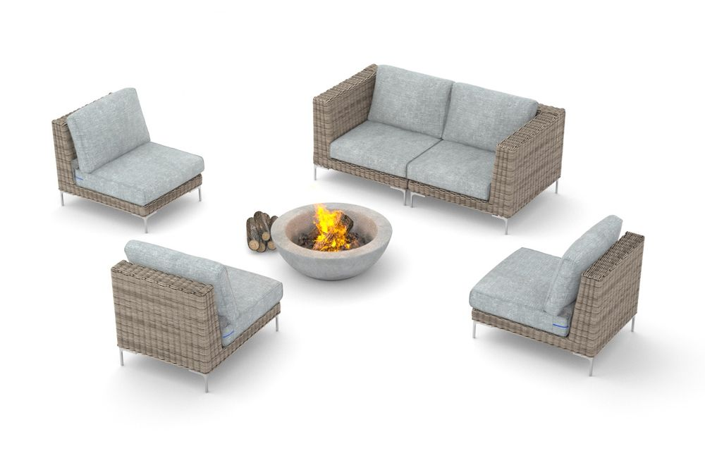 Pictogram of what modular outdoor furniture is