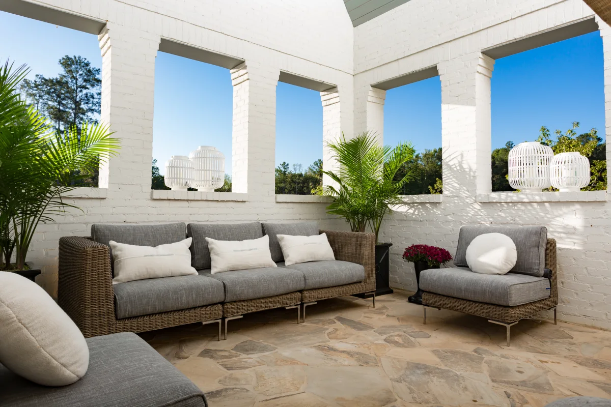 Low-maintenance living with wicker modular outdoor furniture