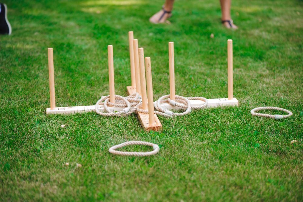 Ring toss backyard games