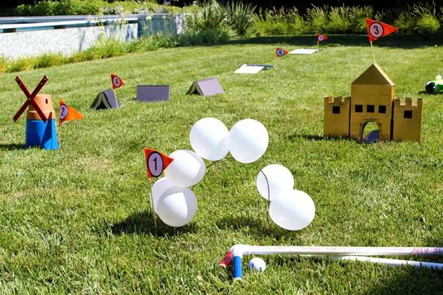 backyard games like mini golf