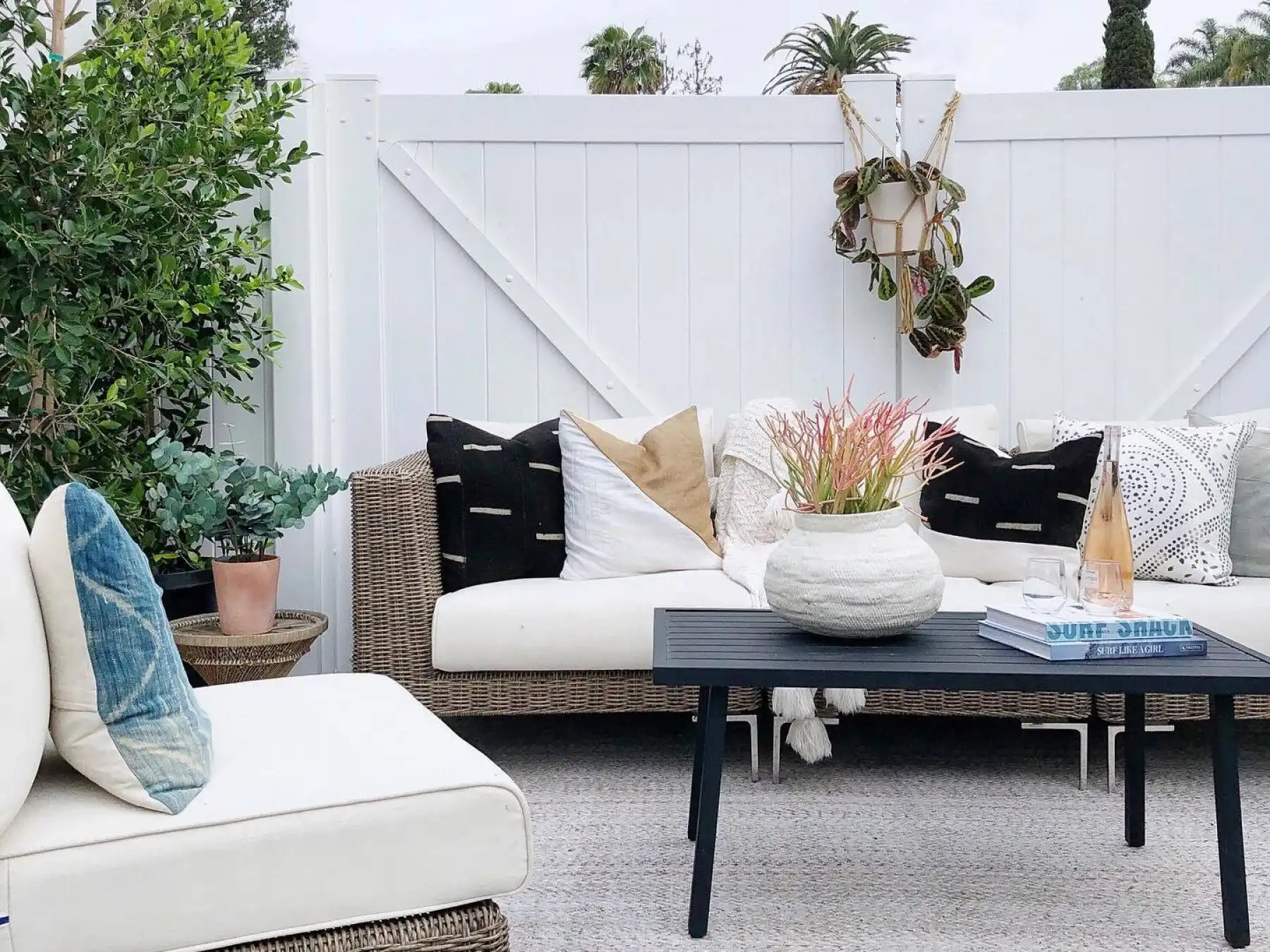 Outdoor Wicker couch and chair