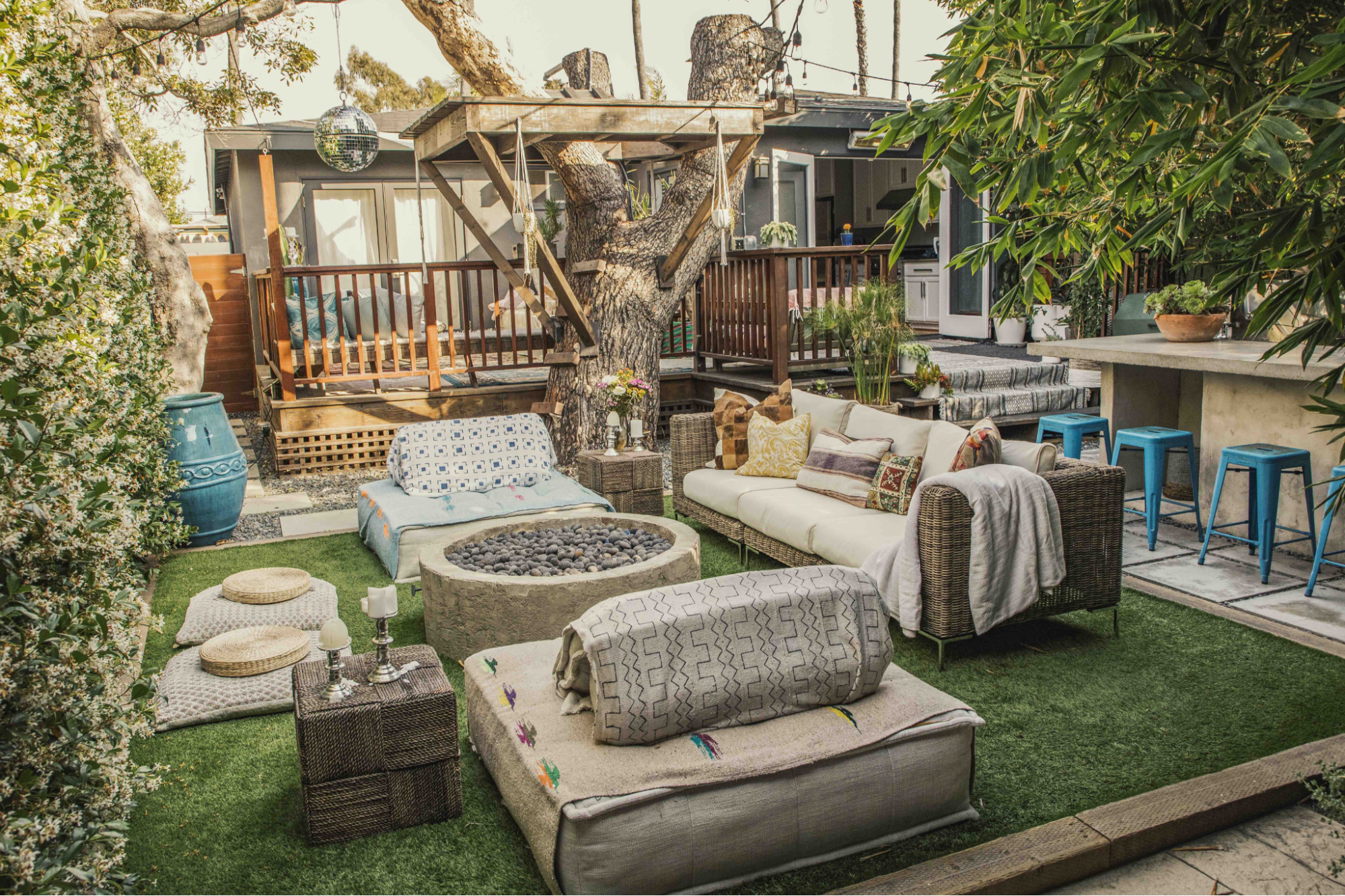 Boho-Chic outdoor living spaces